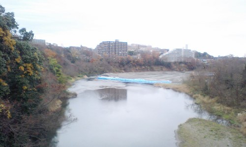 護岸工事橋の上より.JPG